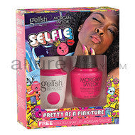 Gelish Gel Polish & Morgan Taylor Nail Lacquer, 1110256, Selfie Collection, Two of a Kind, Pretty As A Pink-ture, 0.5oz BB KK