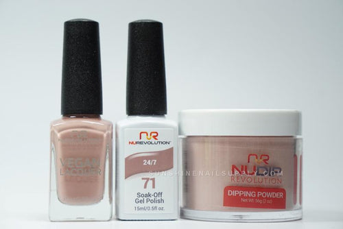 NuRevolution 3in1 Dipping Powder + Gel Polish + Nail Lacquer, 071, 24/7 OK1129