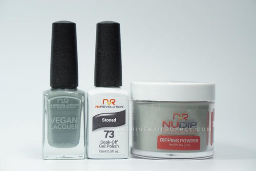 NuRevolution 3in1 Dipping Powder + Gel Polish + Nail Lacquer, 073, Stoned OK1129