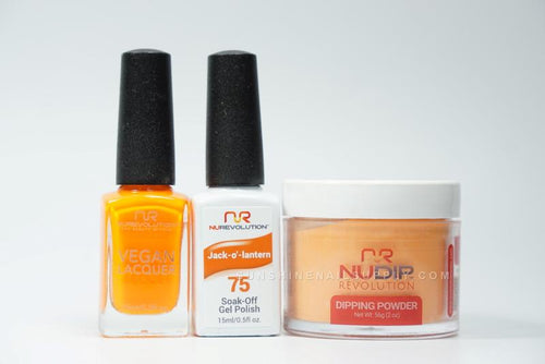 NuRevolution 3in1 Dipping Powder + Gel Polish + Nail Lacquer, 2oz, Jack-O'-Latern KK