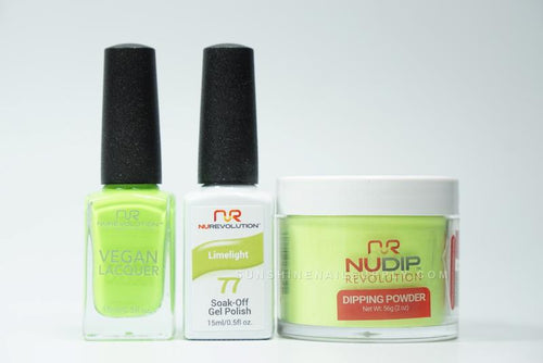 NuRevolution 3in1 Dipping Powder + Gel Polish + Nail Lacquer, 2oz, Limelight KK