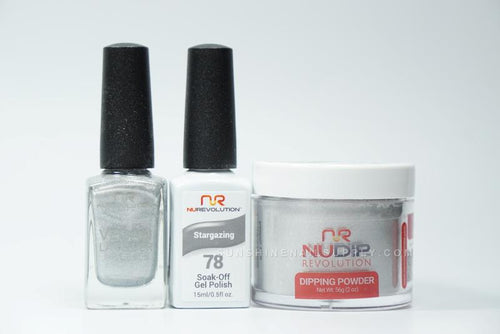 NuRevolution 3in1 Dipping Powder + Gel Polish + Nail Lacquer, 078, Stargazing OK1129
