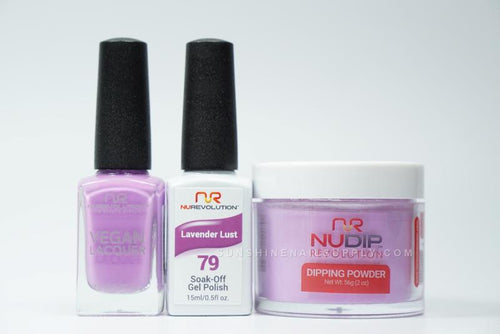 NuRevolution 3in1 Dipping Powder + Gel Polish + Nail Lacquer, 079, Lavender Lust OK1129