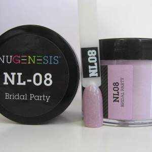 Nugenesis Dipping Powder, NL 008, Bridal Party, 2oz KK1003