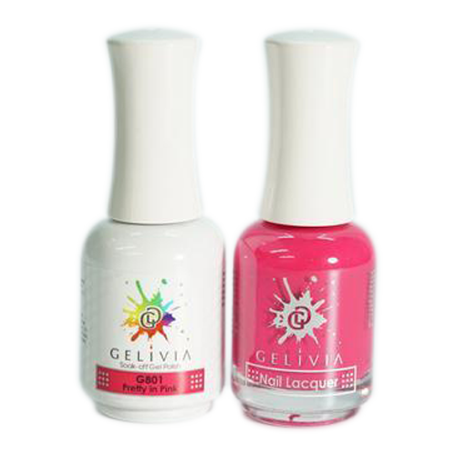 Gelivia Nail Lacquer And Gel Polish, 801, Pretty In Pink KK0731