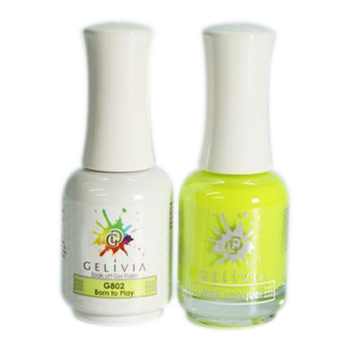Gelivia Nail Lacquer And Gel Polish, 802, Born to Play KK0731