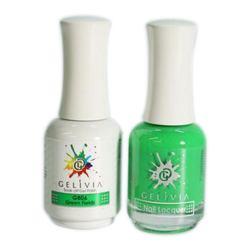 Gelivia Nail Lacquer And Gel Polish, 806, Green Fields KK0731