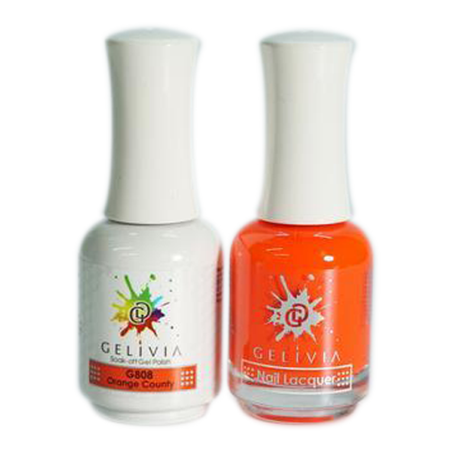 Gelivia Nail Lacquer And Gel Polish, 808, Orange Country KK0731