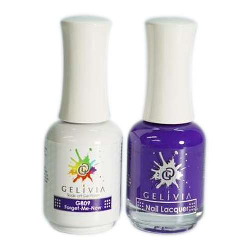 Gelivia Nail Lacquer And Gel Polish, 809, Forget Me Now KK0731