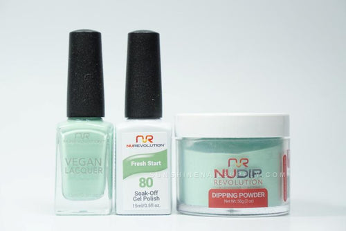 NuRevolution 3in1 Dipping Powder + Gel Polish + Nail Lacquer, 080, Fresh Start OK1129
