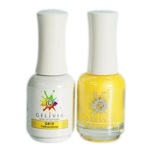 Gelivia Nail Lacquer And Gel Polish, 810, Yellowstone KK0731