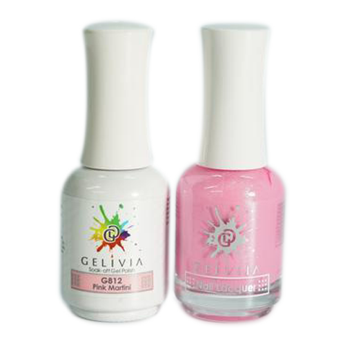 Gelivia Nail Lacquer And Gel Polish, 812, Pink Martini KK0731