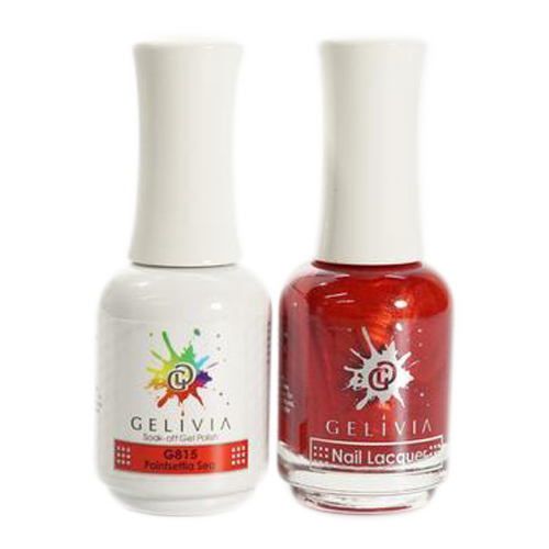 Gelivia Nail Lacquer And Gel Polish, 815, Pointsetta Sea KK0731