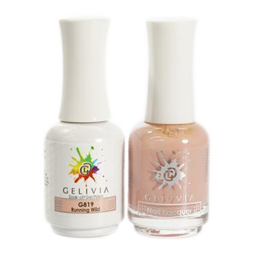 Gelivia Nail Lacquer And Gel Polish, 819, Running Wild KK0731