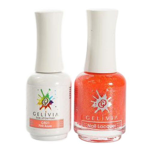 Gelivia Nail Lacquer And Gel Polish, 821, Pink Azure KK0731