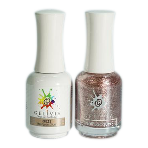 Gelivia Nail Lacquer And Gel Polish, 823, Hourglass Stars KK0731
