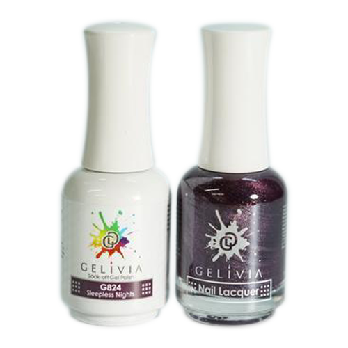 Gelivia Nail Lacquer And Gel Polish, 824, Sleepless Nights KK0731