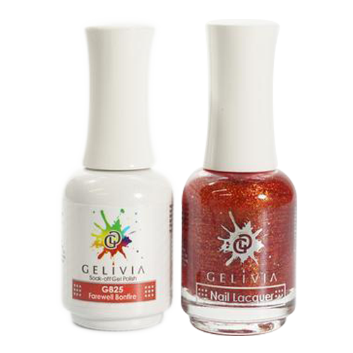 Gelivia Nail Lacquer And Gel Polish, 825, Farewell Bonfire KK0731