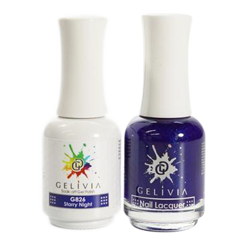 Gelivia Nail Lacquer And Gel Polish, 826, Starry Night KK0731