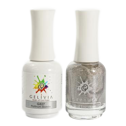 Gelivia Nail Lacquer And Gel Polish, 827, Platinum Blonde KK0731