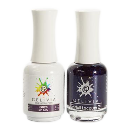 Gelivia Nail Lacquer And Gel Polish, 828, Sin City KK0731