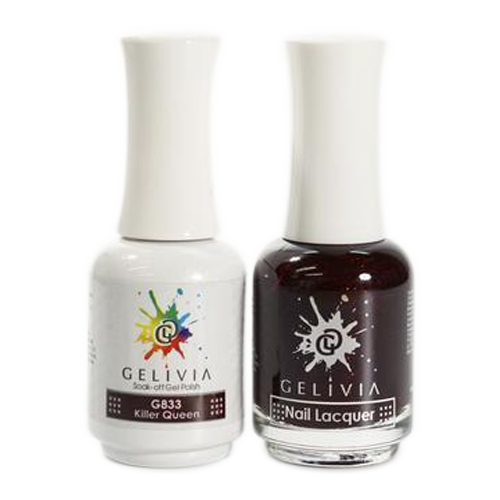 Gelivia Nail Lacquer And Gel Polish, 833, Killer Queen KK0731