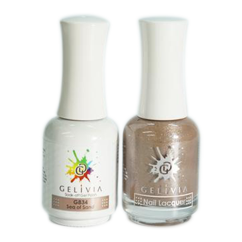 Gelivia Nail Lacquer And Gel Polish, 834, Sea of Sand KK0731