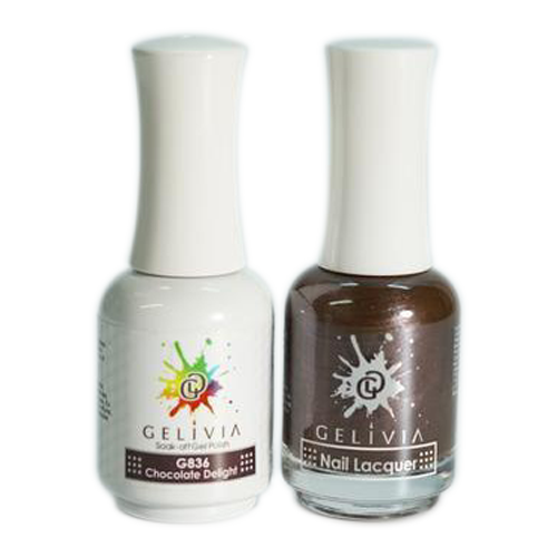 Gelivia Nail Lacquer And Gel Polish, 836, Chocolate  Delight KK0731