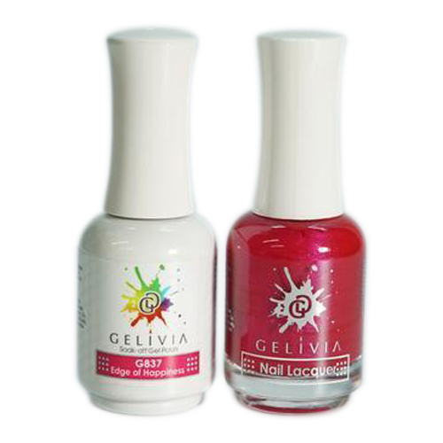 Gelivia Nail Lacquer And Gel Polish, 837, Edge of Happiness KK0731