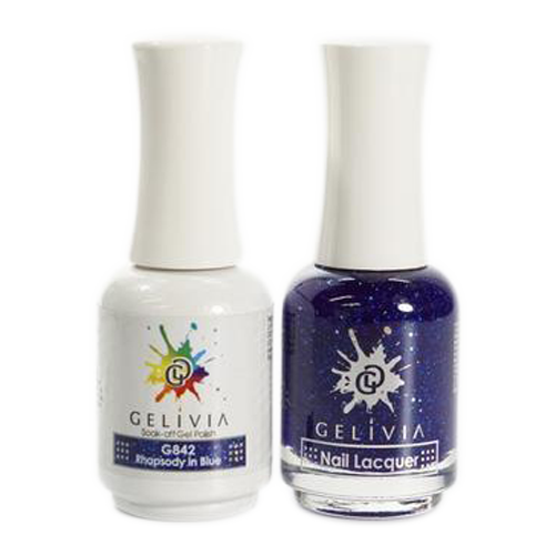 Gelivia Nail Lacquer And Gel Polish, 842, Rhapsady in Blue KK0731