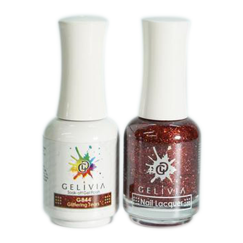 Gelivia Nail Lacquer And Gel Polish, 844, Glittering Tears KK0731
