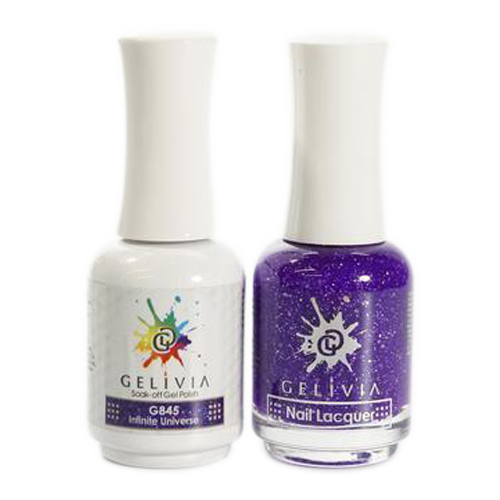 Gelivia Nail Lacquer And Gel Polish, 845, Infinite Universe KK0731