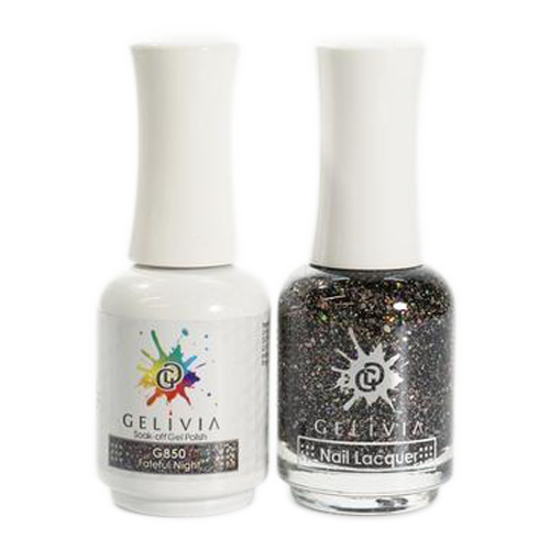 Gelivia Nail Lacquer And Gel Polish, 850, Fateful Night KK0731