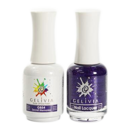 Gelivia Nail Lacquer And Gel Polish, 854, Secret Memories, 0.5oz OK0304VD
