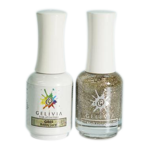 Gelivia Nail Lacquer And Gel Polish, 855, Bubbly Love, 0.5oz OK0304VD