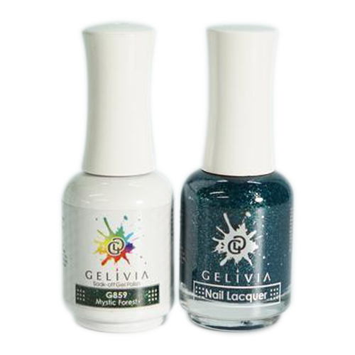 Gelivia Nail Lacquer And Gel Polish, 859, Mystic Forest, 0.5oz OK0304VD