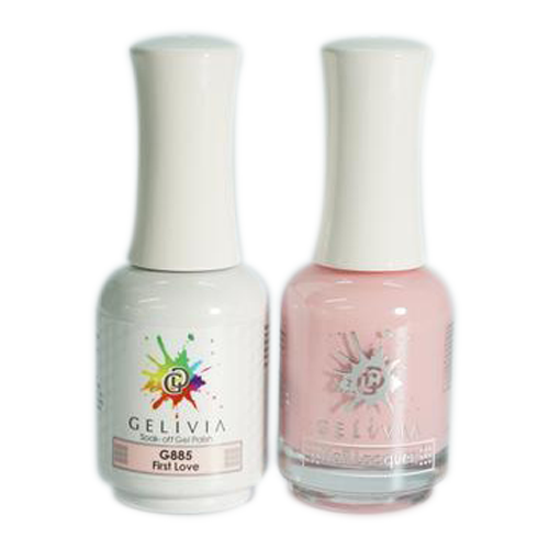 Gelivia Nail Lacquer And Gel Polish, 885, First Love, 0.5oz OK0304VD