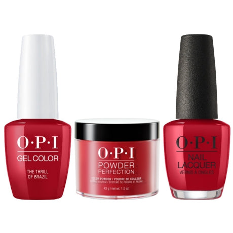 OPI 3in1, DGLA16, The Thrill Of Brazil, 1.5oz
