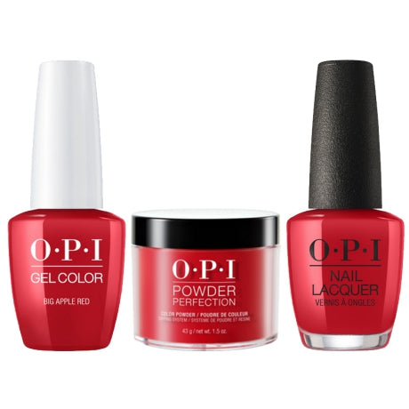 OPI 3in1, N25, Big Apple Red, 1.5oz