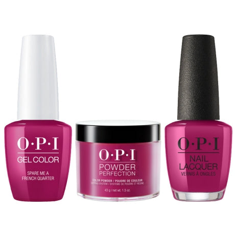 OPI 3in1, DGLN55, Spare Me a French Quarter, 1.5oz