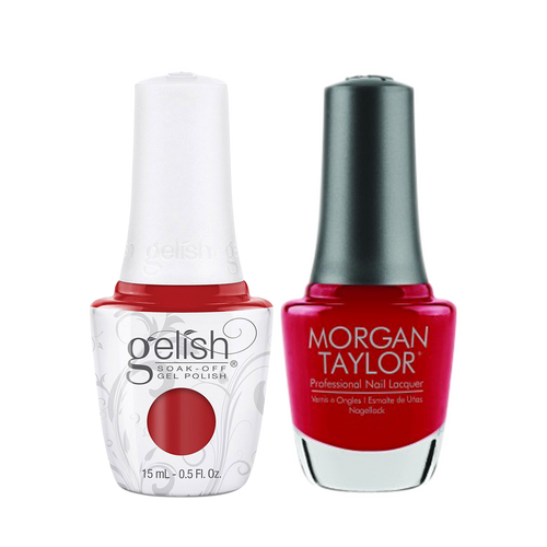 Gelish Gel Polish & Morgan Taylor Nail Lacquer 1, 1110335 + 3110335, Forever Fabulous Winter Collection 2018, A Kiss From Marilyn, 0.5oz KK1011