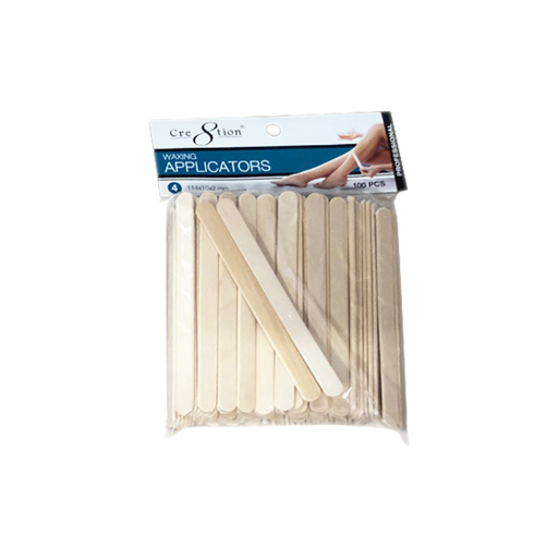Cre8tion Disposable Applicators 4, 114x10x2mm, 100pcs/pack, 100 packs/case OK0417VD