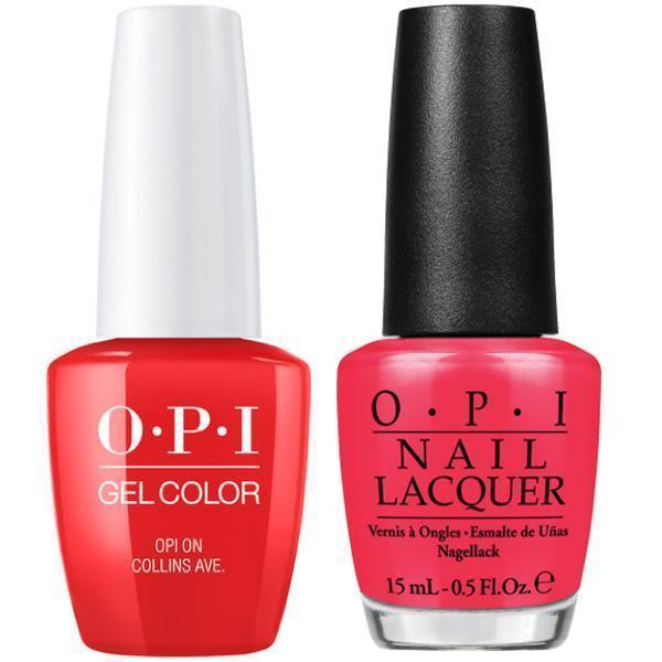 OPI GelColor And Nail Lacquer, B76, OPI On Collins Ave , 0 5oz