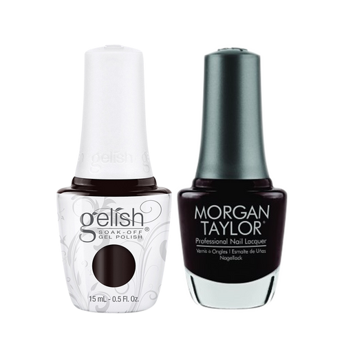 Gelish Gel Polish & Morgan Taylor Nail Lacquer 1, 1110327 + 3110327, Forever Fabulous Winter Collection 2018, Batting My Lashes, 0.5oz KK1011