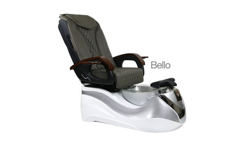 Bello, Pedicure Spa Chair, White Sliver KK (NOT Included Shipping Charge)
