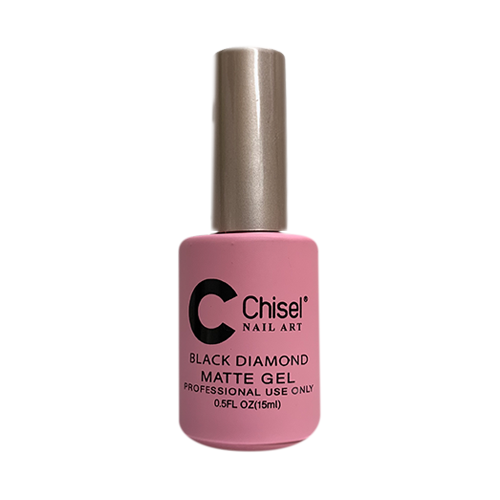 Chisel Black Diamond Matte Gel, BIGGER BOTTLE, 0.5oz KK1214