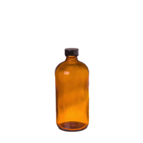 Cre8tion Amber Glass Bottle, 8oz, 26092