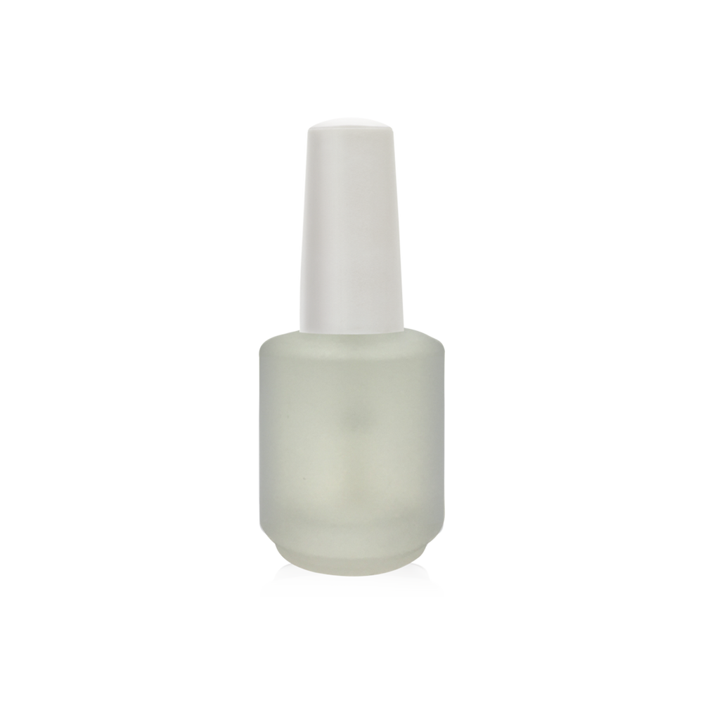 Cre8tion Empty Glass White  Bottle, Blank Frost, 0.5oz, 26078 (Packing: 288 pcs/case)