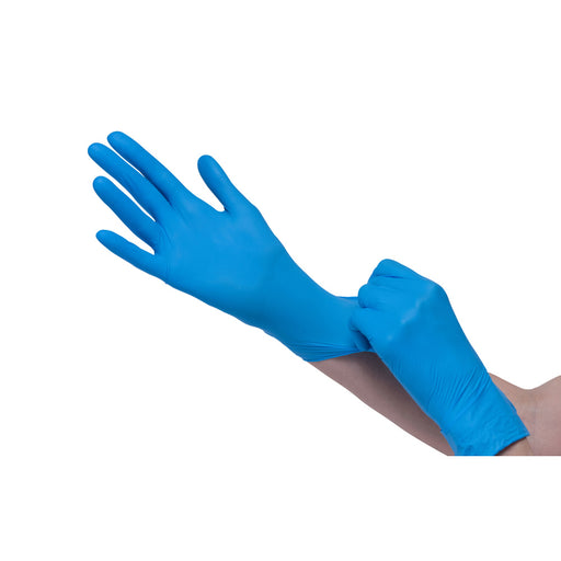 Cre8tion Disposable NITRILE Gloves (Made in Malaysia), Size M, 10358 (Packing: 100 pcs/box, 10 boxes/case)