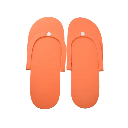 Cre8tion Non-Slippery Disposable Pedicure Foam Slippers, Plastic Button, 10010 KK0208